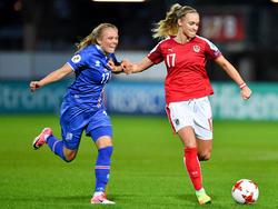 Österreich gegen Island Frauen EM