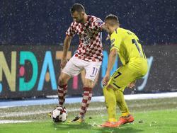 Marcelo Brozović (l.), hier noch am Samstag, siegte mit Kroatien gegen Kosovo