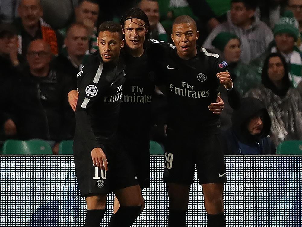 Paris Top-Trio im Angriff: Neymar, Cavani und Mbappé