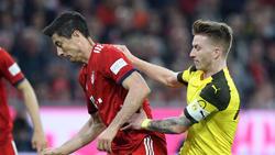 Robert Lewandowski hatte gegenüber Marco Reus nach Nachsehen