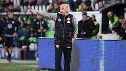 Uwe Rösler wartet mit Fortuna Düsseldorf noch auf seinen ersten Bundesligasieg