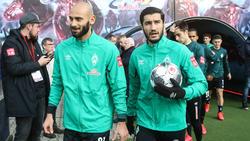 Ömer Toprak (l.) und Nuri Sahin treffen mit Werder Bremen auf den BVB