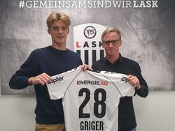 Adam Gríger (l.) ist neu beim LASK