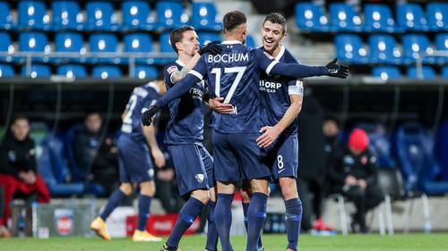 Der VfL Bochum jubelt über den Sieg gegen Heidenheim