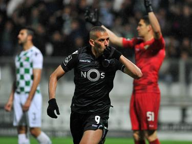 Slimani anotó ante el Moreirense su gol número 24 de la temporada. (Foto: Imago)