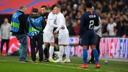 Stand für das Testspiel gegen USA noch einmal für die Three Lions auf dem Spielfeld: Wayne Rooney (r.)