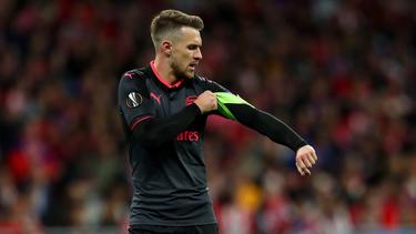Aaron Ramsey lief schon als Kapitän für den FC Arsenal auf