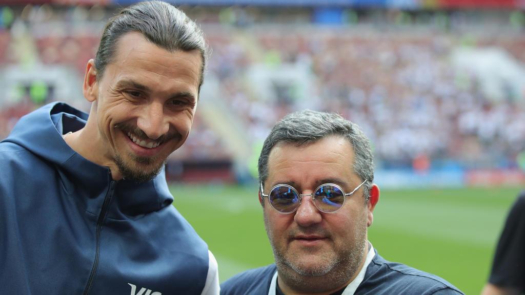 Mino Raiola (r.) mit seinem Schützling Zlatan Ibrahimovic