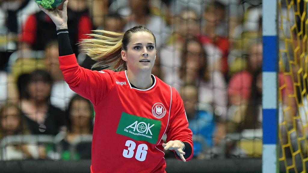 Dinah Eckerle war ein sicherer Rückhalt für das DHB-Team
