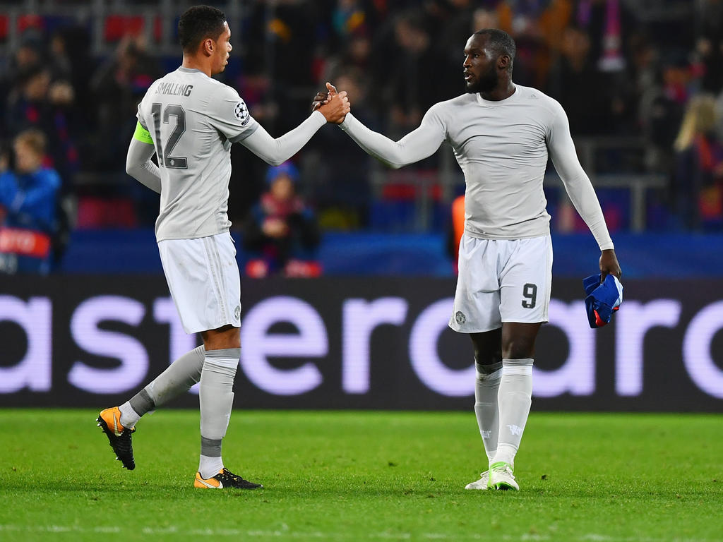 Smalling y Lukaku en su etapa con el United.