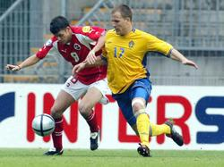 Schweiz gegen Schweden bei der U-21-EM 2004