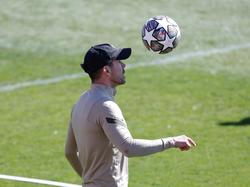 Diego Simeone en el entrenamiento del Atleti.