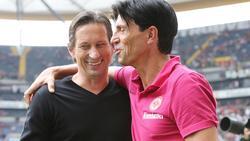 Würde Roger Schmidt (l.) gerne bei Eintracht Frankfurt sehen: Bruno Hübner