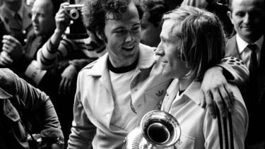 Netzer und Beckenbauer bei der EM 1972