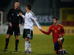 Freundschaftsspiel der U19: Deutschland vs. Spanien (1:0)