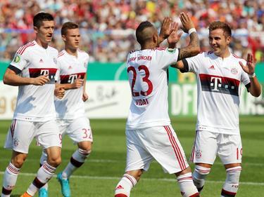Die Stars des FC Bayern zogen im Schongang in die zweite Runde ein
