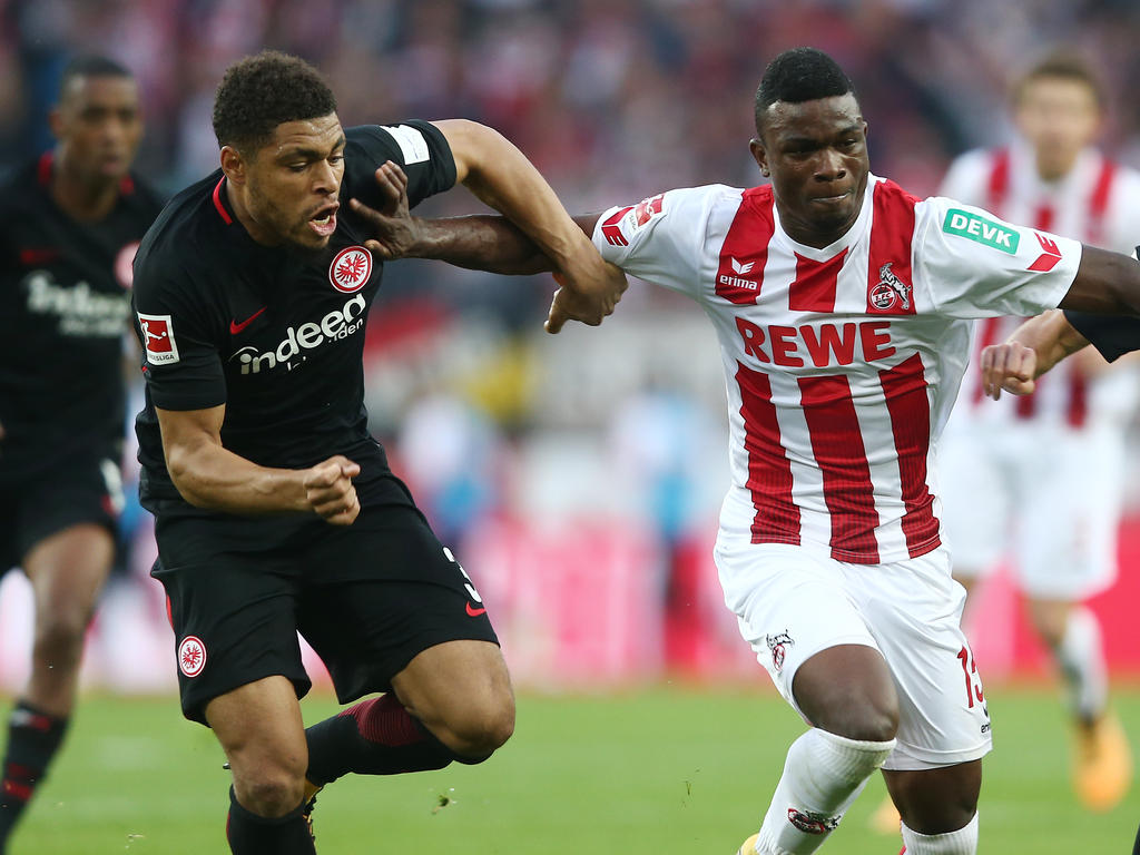 Jhon Córdoba (r.) kam im Sommer 2017 von Mainz 05 zum 1. FC Köln