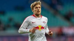 Muss wegen Leistenproblemen passen: Spielmacher Emil Forsberg von RB Leipzig