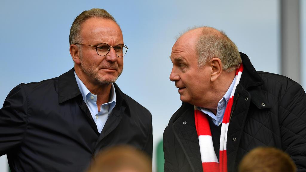 Karl-Heinz Rummenigge und Uli Hoeneß waren die Protagonisten einer unrühmlichen Bayern-PK