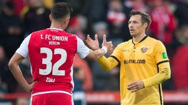 Kein Sieger zwischen Union Berlin und Dynamo Dresden
