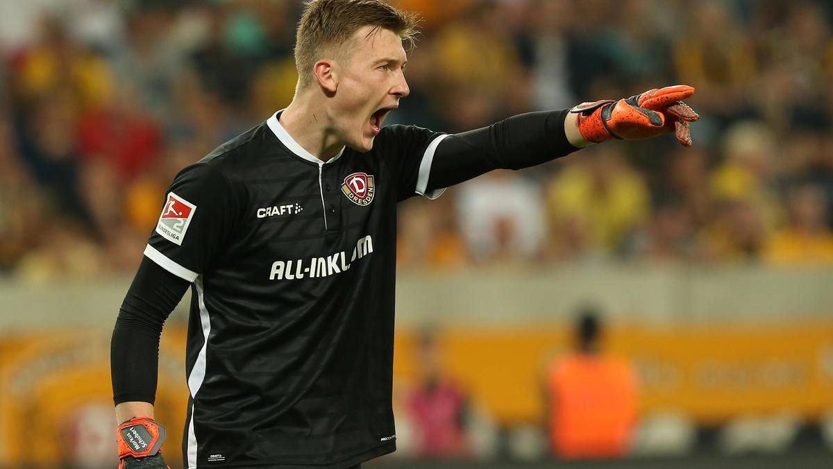 Noch gibt Markus Schubert im Tor von Dynamo Dresden den Ton an
