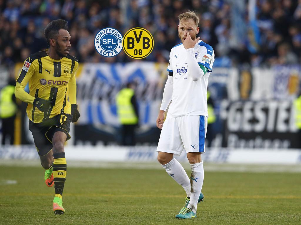Lotte-Kapitän Gerrit Nauber (r.) freut sich auf die Begegnung mit den BVB-Stars