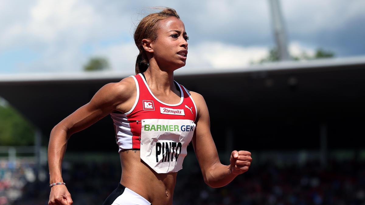 Tatjana Pinto sicherte sich den Titel über 100 Meter