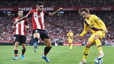Unai Núñez con el Bilbao en LaLiga contra el Barcelona.
