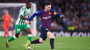 Lionel Messi traf Mitte März sehenswert gegen Betis
