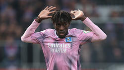 Wegen rohen Spiels gesperrt: HSV-Profi Bakery Jatta