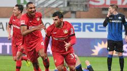 Bayer Leverkusen schlägt den SC Paderborn