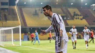 Morata hizo el único tanto del duelo pero fue expulsado al final.