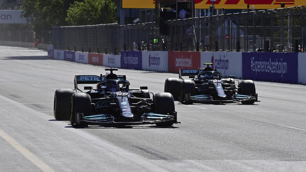 Valtteri Bottas musste Lewis Hamilton in Baku Windschatten geben