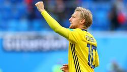 Emil Forsberg steht mit Schweden im WM-Viertelfinale