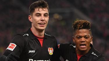 Kai Havertz (l.) schoss das einzige Leverkusener Tor. Foto: Marijan Murat