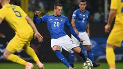 Bernardeschi (Mitte) erzielte die zwischenzeitliche Führung für Italien