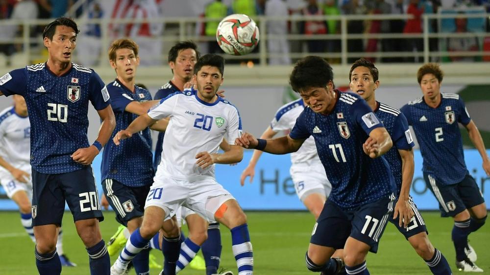 Japan setzte sich knapp gegen Usbekistan durch