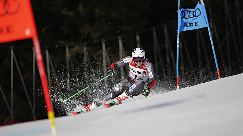 Henrik Kristoffersen sicherte sich in Are die Goldmedaille im Riesenslalom