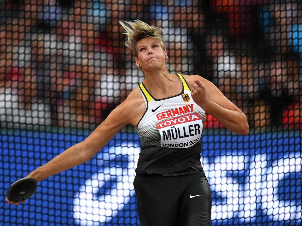 Diskuswerferin Nadine Müller wurde mit 64,13 Metern Sechste