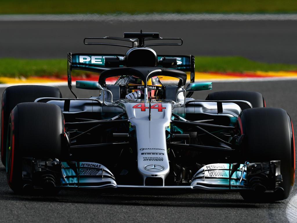 Auch Weltmeister Hamilton wird 2018 mit dem neuen Halo-System fahren