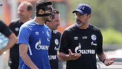 Trainingsauftakt beim FC Schalke 04 mit David Wagner (r.) und Ozan Kabak