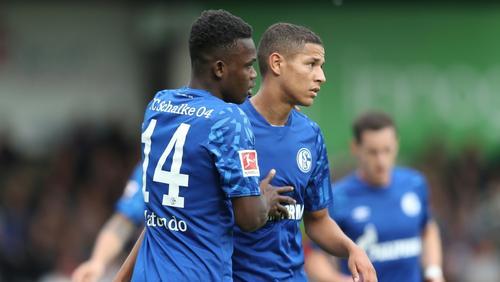 Rabbi Matondo (l.) schoss das 1:0 bei Schalkes Testerfolg