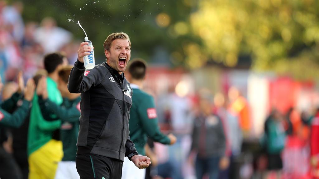Bremen-Coach Florian Kohfeldt bekam eine Gelbe Karte