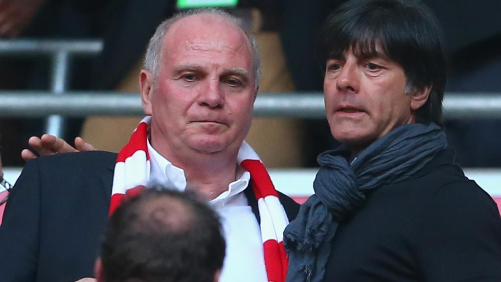 Uli Honeß' (l.) Zeit als Präsident des FC Bayern endet