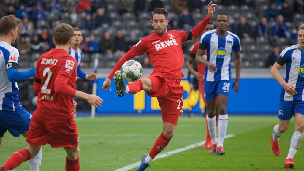 Muss gegen seine Ex-Klub Schalke zuschauen:Kölns Mark Uth
