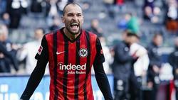 Bas Dost traf doppelt für Eintracht Frankfurt gegen die TSG 1899 Hoffenheim