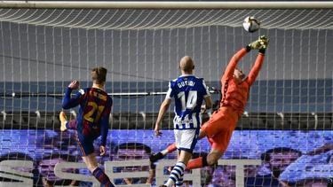 Der FC Barcelona setzte sich knapp gegen Real Sociedad San Sebastián durch