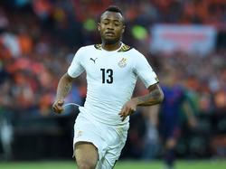 Jordan Ayew, hier in actie namens Ghana.