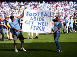 Auch Fans von ManCity wünschen Sir Alex Ferguson nur das Beste