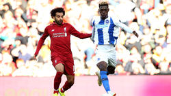 Mohamed Salah (l.) traf für Liverpool